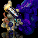 "Picture of 5.5"" Underwater Wonderland Water Pipe"